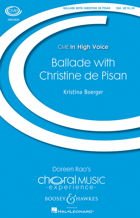 Ballade with Christine de Pisan : SSA : Kristina Boerger : Sheet Music : 48022820 : 884088899493
