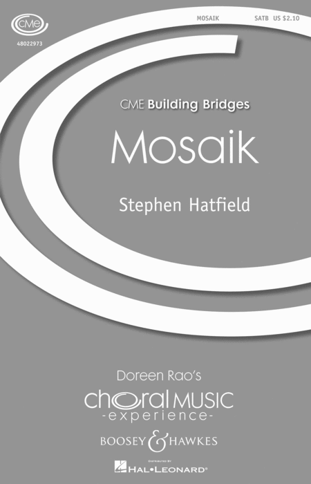 Mosaik : SATB : Stephen Hatfield : Sheet Music : 48022973 : 884088948252