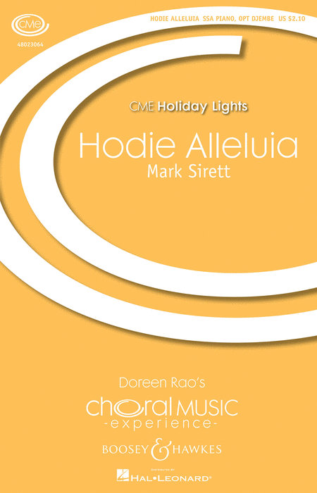 Hodie Alleluia : SSA : Mark Sirett : Mark Sirett : Sheet Music : 48023064 : 884088963514