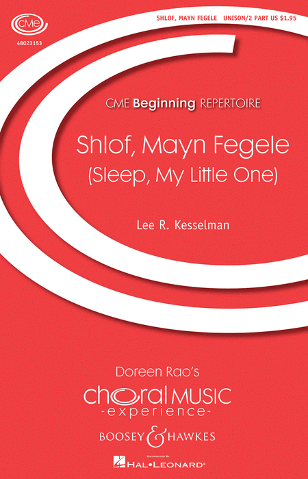 Shlof, Mayn Fegele : Unison : Lee Kesselman : Sheet Music : 48023153 : 884088994624