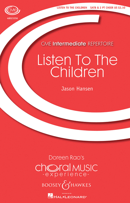 Listen to the Children : SATB : 48023356 : Sheet Music : 48023356 : 888680038052