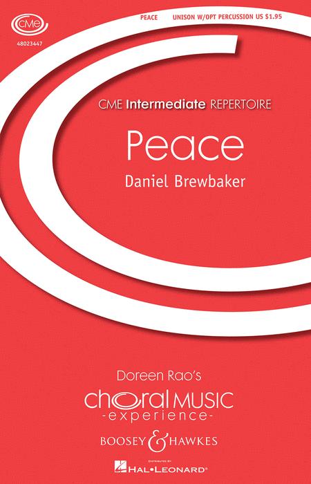 Peace : Unison : Daniel Brewbaker : Daniel Brewbaker : Sheet Music : 48023447 : 888680049386