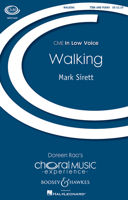 Walking : TTBB : Mark Sirett : Mark Sirett : Sheet Music : 48023449 : 888680049409