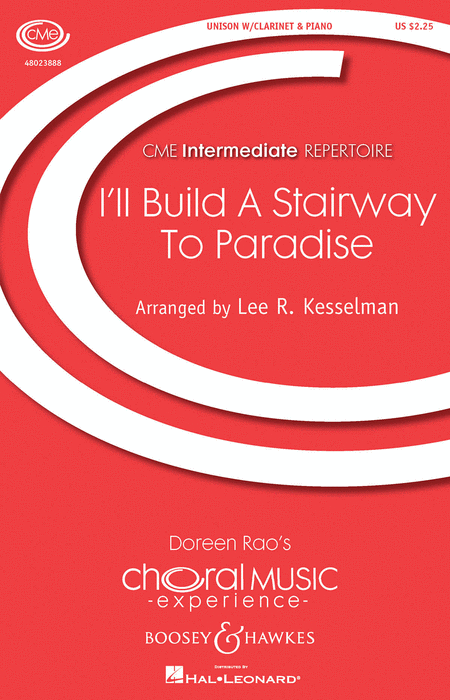 I'll Build a Stairway to Paradise : Unison : Lee Kesselman : George Gershwin : Sheet Music : 48023888 : 888680640019