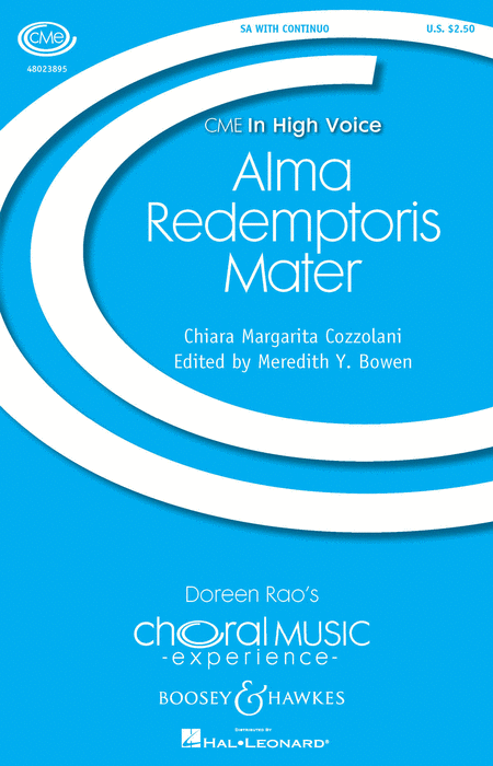 Alma Redemptoris Mater : SA : Chiara Margarita Cozzolani : Chiara Margarita Cozzolani : Sheet Music : 48023895 : 888680640392