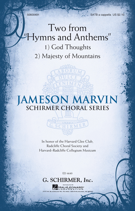 Two from Hymns and Anthems : SATB : Jameson Marvin : Jameson Marvin : Harvard Glee Club : Sheet Music : 50600491 : 888680603809 : 1495057828