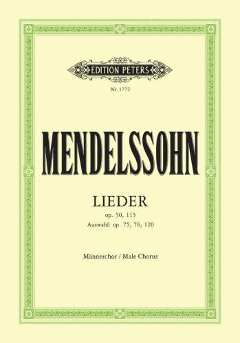 Felix Mendelssohn : Songs for Men's Voices : TTBB : 01 Songbook : EP1772