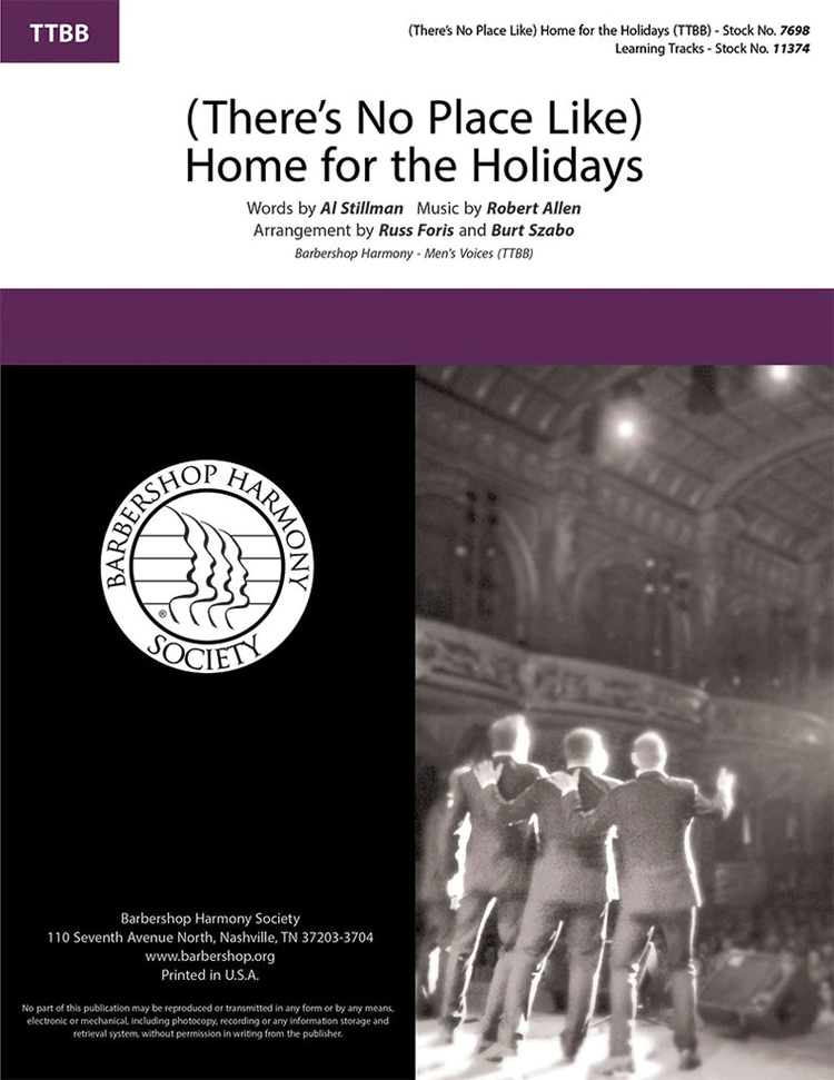 (There's No Place Like) Home For The Holidays : TTBB : Burt Szabo : Sheet Music : 7698