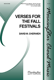 Verses for the Fall Festivals : SATB : David Cherwien : David Cherwien : Sheet Music : 80-880