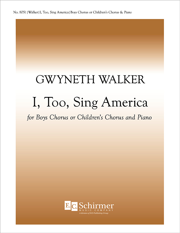 I, Too, Sing America : tb : Gwyneth Walker : Gwyneth Walker : Sheet Music : 8051