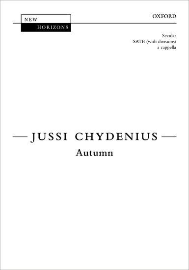 Autumn : SATB divisi : Jussi Chydenius : Rajaton : Sheet Music : 9780193368859 : 9780193368859