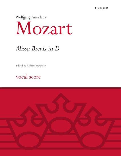 Wolfgang Amadeus Mozart : Missa Brevis in D K.194 : SATB : Songbook : 9780193376304 : 9780193376304