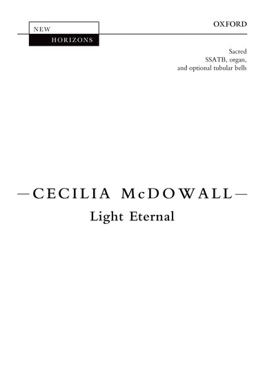 Light Eternal : SSATB : Cecilia McDowall : Cecilia McDowall : Sheet Music : 9780193394698
