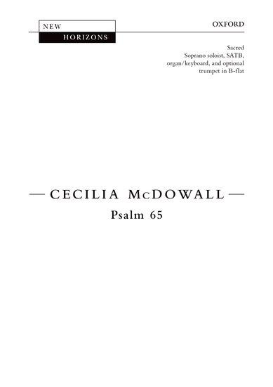 Psalm 65 : SATB : Cecilia McDowall : Cecilia McDowall : Sheet Music : 9780193400948