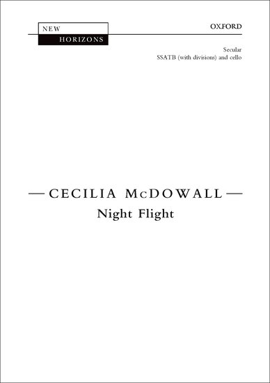 Night Flight : SSATB : Cecilia McDowall : Cecilia McDowall : Sheet Music : 9780193408227