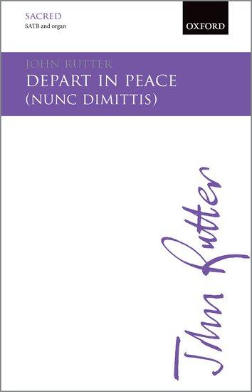 Depart in Peace : SATB : John Rutter : John Rutter : Sheet Music : 9780193416284