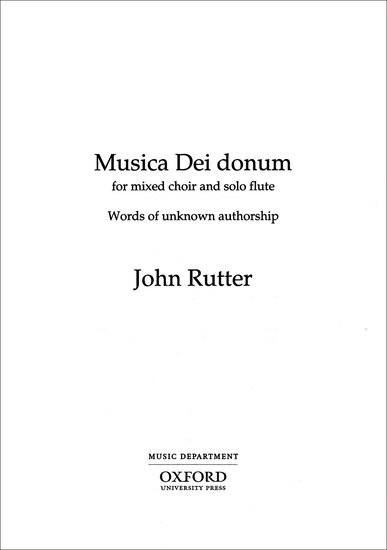 Musica Dei donum : SATB : John Rutter : John Rutter :  1 CD : 9780193432390 : 9780193432390
