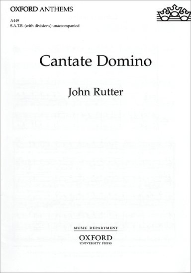Cantate Domino : SATB : John Rutter : John Rutter : Sheet Music : 9780193533615 : 9780193533615