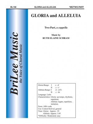 Gloria and Alleluia : Unison and Two-part : Ruth Elaine Schram : Sheet Music : BL158