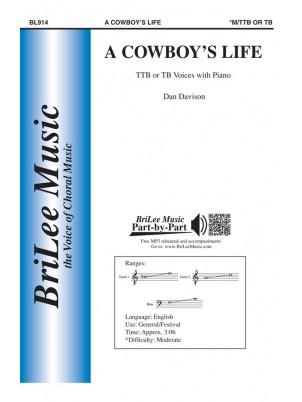 A Cowboy's Life : TTB : Dan Davison : Sheet Music : BL914