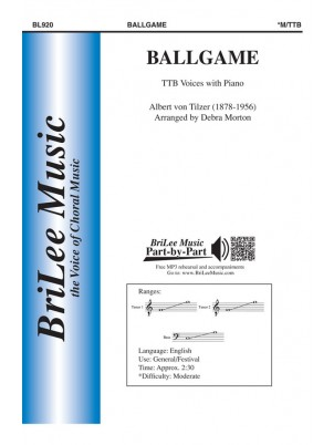 Ballgame : TTB : Debra Morton : Albert Von Tilzer : Sheet Music : BL920