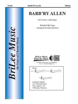 Barbara Allen : SSA : Dan Davison : Sheet Music : BL960