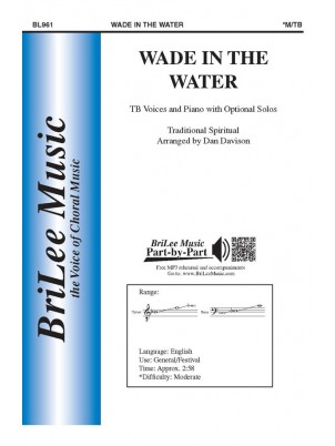 Wade in the Water : Dan Davison : Traditional Spiritual :  1 CD : BL961