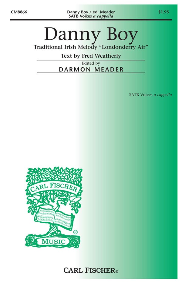 Danny Boy : SATB : Darmon Meader : Sheet Music : CM8866