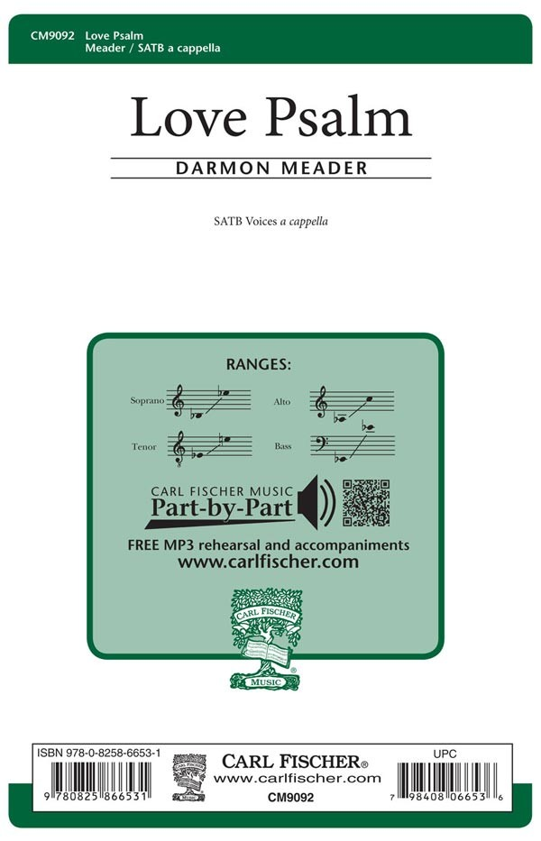 Love Psalm : SATB : Darmon Meader : Sheet Music : CM9092
