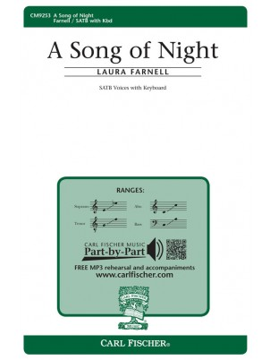 A Song of Night : SATB : Laura Farnell : Laura Farnell : Sheet Music : CM9253