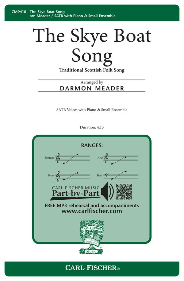 Skye Boat Song : SATB : Darmon Meader :  1 CD : CM9410