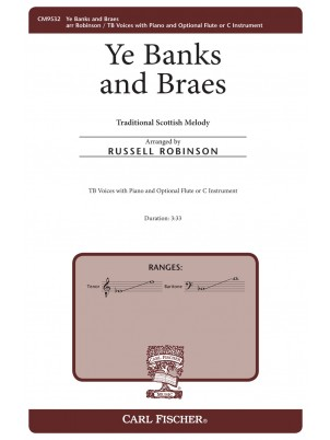 Ye Banks and Braes : Men's Chorus : Russell Robinson : Sheet Music : CM9532