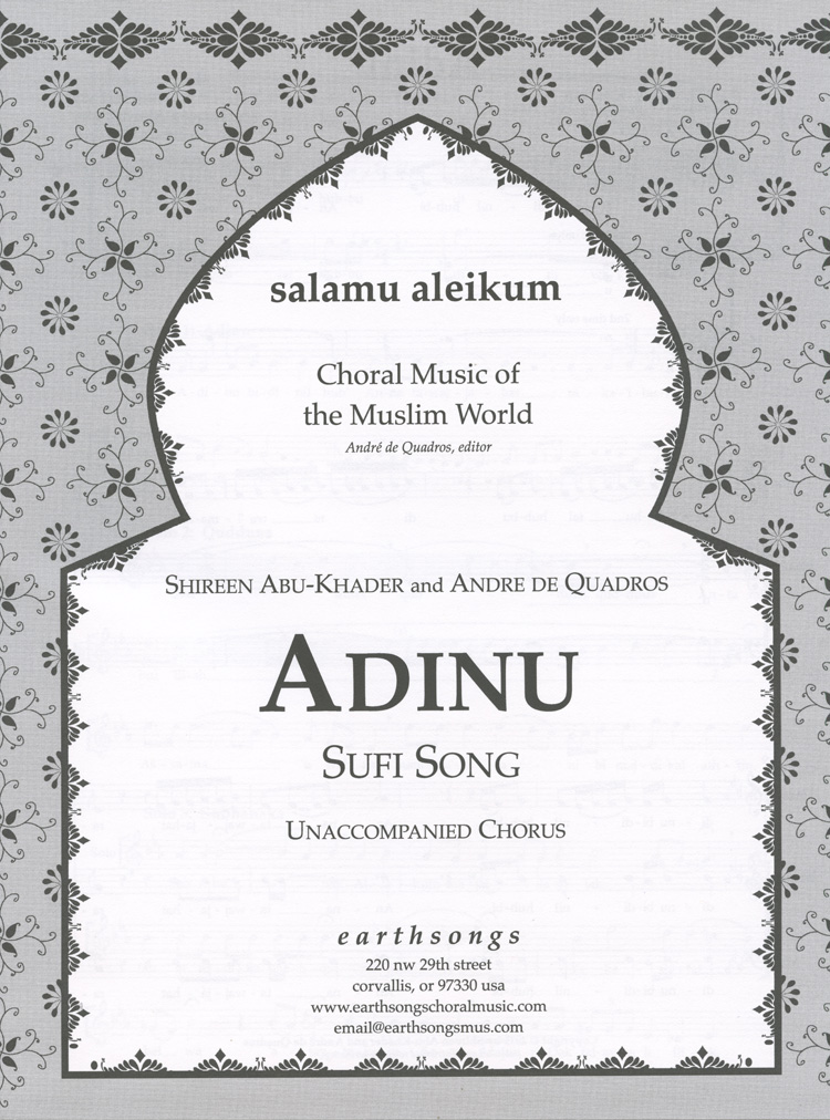 Adinu : Andre de Quadros : Sheet Music : S-351