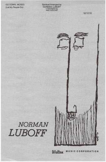 Go Down Moses : TTBB : Norman Luboff : Norman Luboff Choir : Sheet Music : W1018 : 073999154894