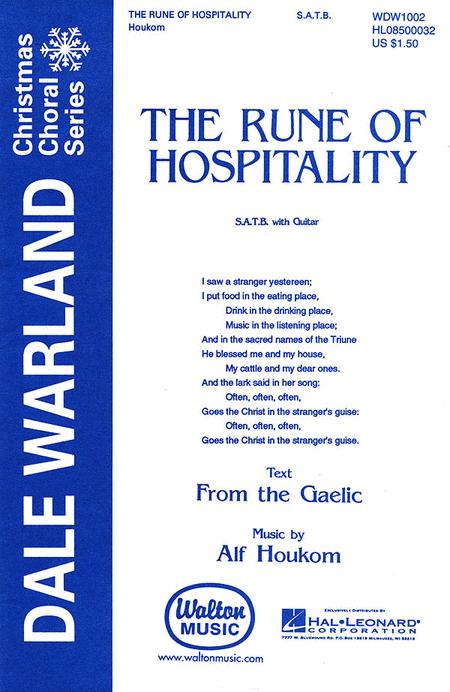 The Rune of Hospitality : SATB : Alf Houkum : Alf Houkum : Sheet Music : WDW1002 : 073999720013