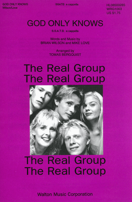 God Only Knows : SSATB : Tomas Bergquist : Brian Wilson : The Real Group : Sheet Music : WRG1003 : 073999590814