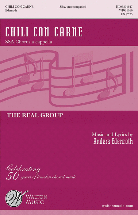 Chile Con Carne : SSA : Anders Edenroth : Real Group : Sheet Music : WRG1010 : 884088144692