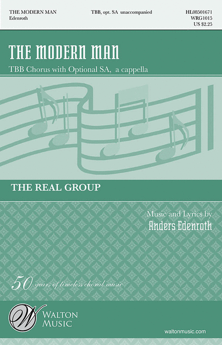 The Modern Man : TBB : Anders Edenroth : Real Group : Sheet Music : WRG1015 : 884088223359