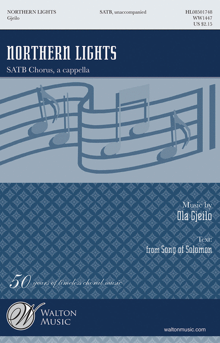 Northern Lights : SATB : Ola Gjeilo : Ola Gjeilo : Sheet Music : WW1447 : 884088493615