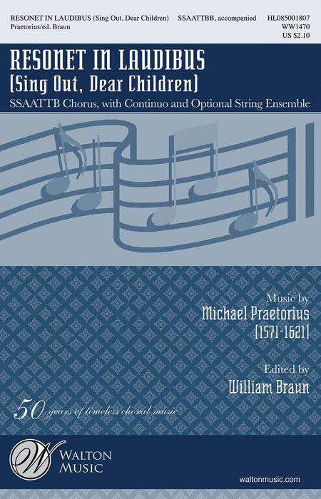 Resonet in Laudibus : SATTBB : Michael Praetorius : Michael Praetorius : Sheet Music : WW1470 : 884088641191