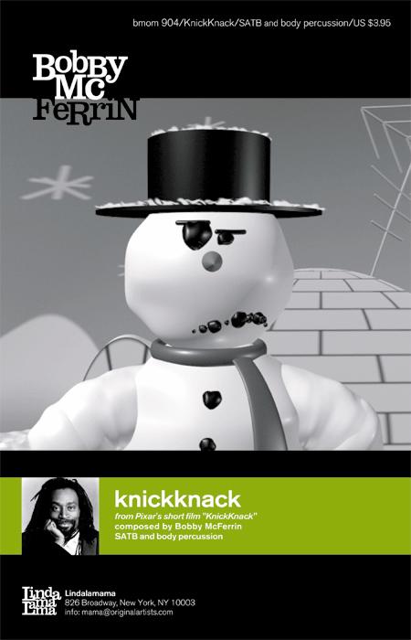 knickknack : SATB : Bobby McFerrin : Bobby McFerrin : Bobby McFerrin : Sheet Music : knickknack