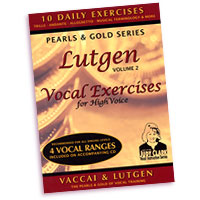 Judy Clark : Lutgen Vocal Exercise Vol 2 - High Voice : 01 Book Warm Up & 1 CD :  : LHV-V2