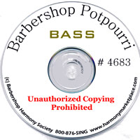 Barbershop Harmony Society : Barbershop Potpourri - CD Bass : Parts CD :  : 11394