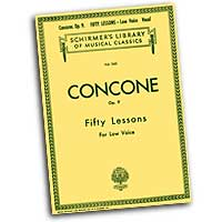 Giuseppe Concone : Fifty Lessons - Low Voice : Solo : Vocal Warm Up Exercises :  : 073999320701 : 0793548675 : 50253730