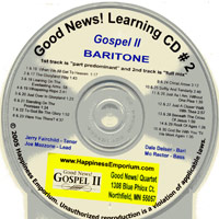 Good News Quartet : Gospel 2 - CD Baritone : Parts CD :