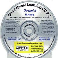 Good News Quartet : Gospel 2 - CD Bass : Parts CD :