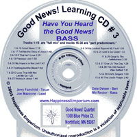 Good News Quartet : Gospel 3 - CD Bass : Parts CD :