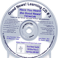 Good News Quartet : Gospel 3 - CD Tenor : Parts CD :