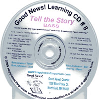 Good News Quartet : Gospel Album 8 - Tell The Story - CD Bass : Parts CD :