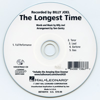 Close Harmony For Men : The Longest Time - Parts CD : TTBB : Parts CD : Billy Joel : 884088138677 : 08746914